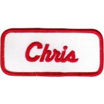 Chris Patch (Red and White)