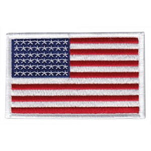 WW2 48 Star US Flag Patch (White Border) 4 x 2.5