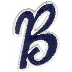 B Applique Dark Blue and White