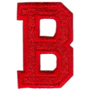 B Applique Red