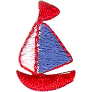 Boat - Blue, White, And Red