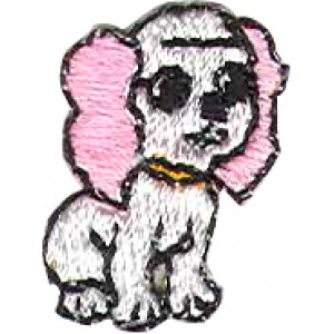 DOG PINK AND WHITE