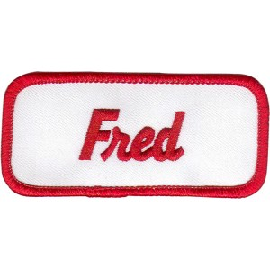 Fred Patch (Red and White)