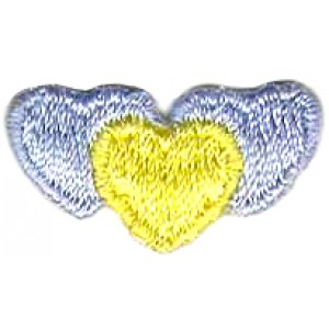 Hearts Light Blue and Yellow