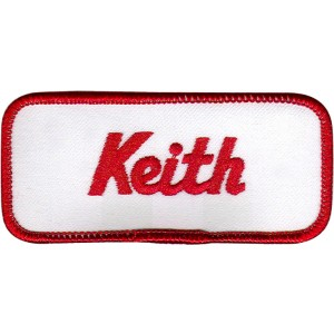 Keith Patch (Red and White)
