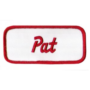Pat  Patch (Red and White)