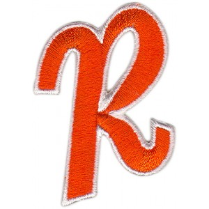 R Applique Orange And White