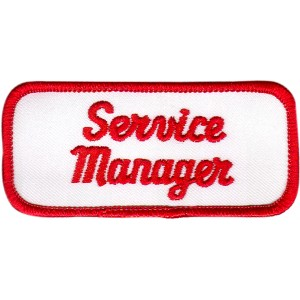 Service Manager Patch (Red and White)