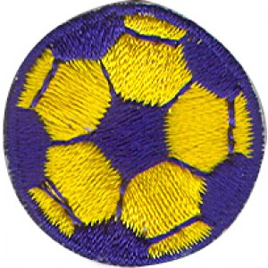 Soccer Ball Blue and Yellow