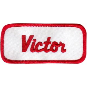 Victor Patch (Red and White)