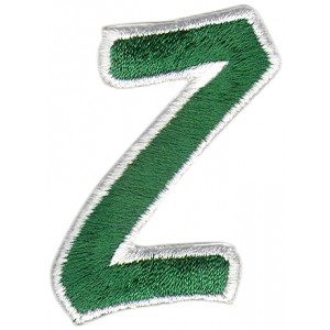 Z Applique Green And White