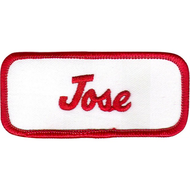 Jose Patch  Red and White  Jose Name