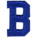 B Applique Blue Bold