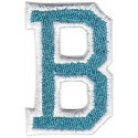 B Applique Aqua and White