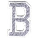 B Applique Grey and White