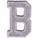 B Applique Grey