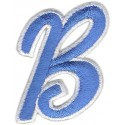 B Applique Steel Blue and White