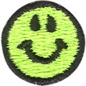 Happy Face Green Patch
