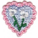 Heart with Flowers and Pink Border