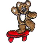 BEAR ON SKATEBOARD RED