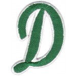 D Applique Green and White