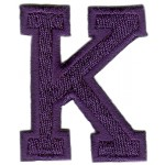 K Applique Royal Blue