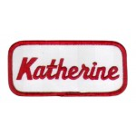 Katherine Patch (Red and White)