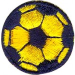 Soccer Ball Blue and Gold