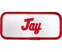 Jay Patch (Red and White)