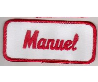 MANUEL PATCH (RED & WHITE)