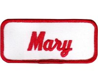 Mary Patch (Red and White)