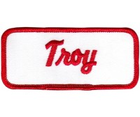Troy Patch (Red and White)