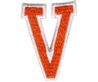 V Applique Orange And White