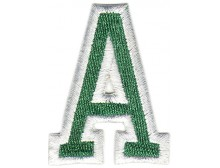 A Applique Green and White