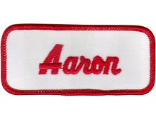 Aaron Patch (Red and White)