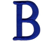 B Applique Blue