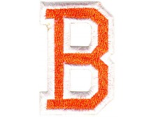 B Applique Orange and White