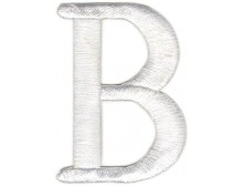 B Applique White