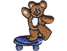 BEAR ON SKATEBOARD BLUE