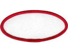 BLANK (3X1.5/WHT/RED) OVAL