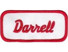 Darrell Patch (Red and White)