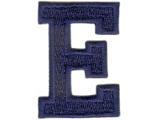 E Applique Dark Blue