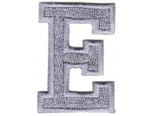 E Applique Grey