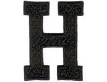 H Applique Black