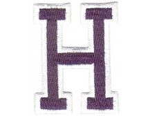 H Applique Dark Blue And White