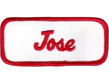 Jose Patch (Red and White)