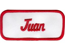 Juan Patch (Red and White)