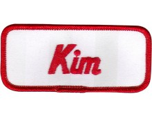 Kim Patch (Red and White)