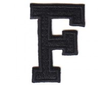 F Applique Black