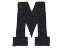 M Applique Black